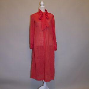 Dresses & Skirts - 1970's/1980's Authentic Vintage Long Sheer Dress